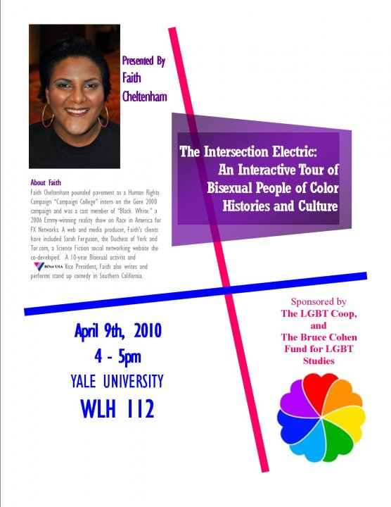 Bisexual People of Color - workshop with Faith Cheltenham