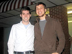 Out Bi-identified Newark, Delaware City Councilman Ezra Temko and his boyfriend Drew Phillips 2009