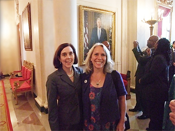 Kate Brown Out Bisexual Oregon Secretary of State & bisexual activist Robyn Ochs at the White house on June 29th 2009 at Reception in honor of the Stonewall Riots